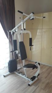 The fitness center and/or fitness facilities at Vilnius Luxury Apartment 2