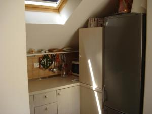 A kitchen or kitchenette at Apartment Lidija