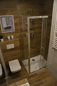 A bathroom at Apartament Lesny Zakatek
