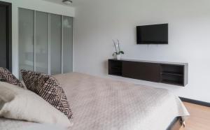 Cama o camas de una habitación en Comfortable 2 bedroom modern apartment