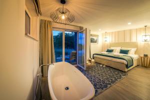 Ein Badezimmer in der Unterkunft Schwimmende Suiten Usedom