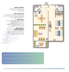 The floor plan of Villa - All Inclusive!