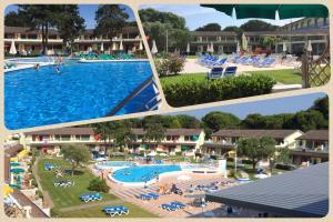 Výhled na bazén z ubytování Bibione Residence Apartments nebo okolí