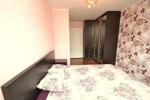Voodi või voodid majutusasutuse Pikk 9 Apartment toas