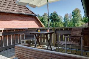 Ein Balkon oder eine Terrasse in der Unterkunft Biohotel Spöktal