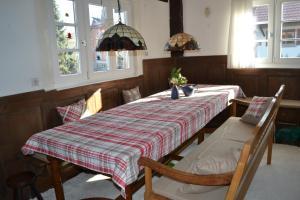 Restaurant ou autre lieu de restauration dans l'établissement Ferienidyll Cleebourg