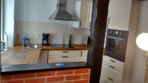 Küche/Küchenzeile in der Unterkunft Ferienwohnung in der Altstadt