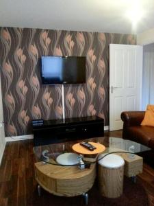 A television and/or entertainment center at Falconwood Apartment
