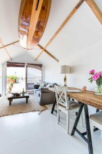 Ein Sitzbereich in der Unterkunft Beachview Apartment