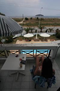 A view of the pool at Kavala Beach or nearby