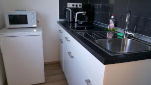 A kitchen or kitchenette at Ambiente Apartment