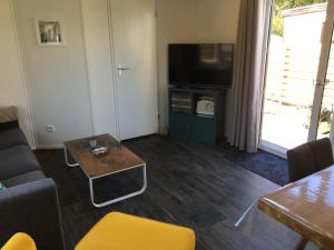 A television and/or entertainment center at Beachhouses Texel