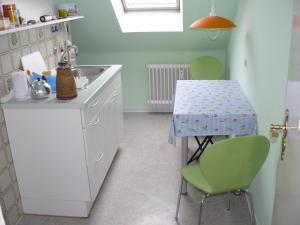 Kjøkken eller kjøkkenkrok på Ferienwohnung Weiken