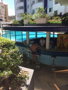 A view of the pool at RIO QUENTE ÁGUAS DA SERRA GO or nearby