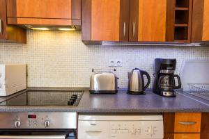 A kitchen or kitchenette at Budapest Best Apartments