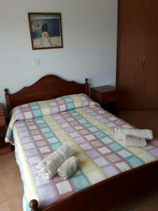 Postelja oz. postelje v sobi nastanitve Yialos Apartments