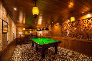 A billiards table at La Grande Villa