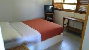Cama o camas de una habitación en Balneario Punta Sal