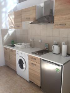 A kitchen or kitchenette at Sisifou Apartment