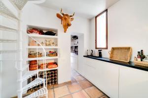 A cozinha ou cozinha compacta de Luxury Art Apt with terrace in Trastevere