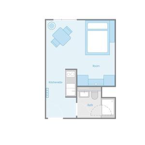The floor plan of SMARTments business Berlin Prenzlauer Berg