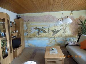 Ein Badezimmer in der Unterkunft Haus Alexandra