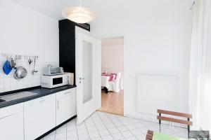 Küche/Küchenzeile in der Unterkunft Berlin Center