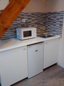 Küche/Küchenzeile in der Unterkunft Green Panda Apartments
