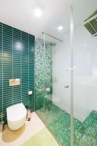 Um banheiro em Apartamento centro Leiria