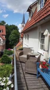 Ein Balkon oder eine Terrasse in der Unterkunft Altstadtapartment an der Krämerbrücke