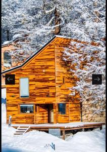 Villa Las Lengas durante el invierno