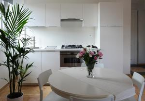Kitchen o kitchenette sa Le Terrazze a Ponte Milvio