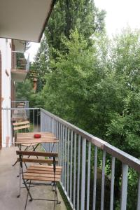 A balcony or terrace at Zurich Furnished Apartments