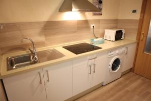 A kitchen or kitchenette at Sleepin Sevilla Arenal