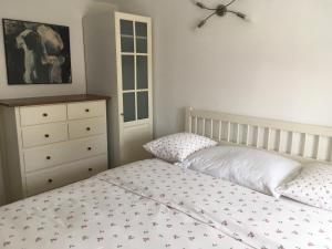 Ein Bett oder Betten in einem Zimmer der Unterkunft Alte Donau