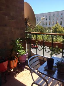 A balcony or terrace at A Flower in Tirana