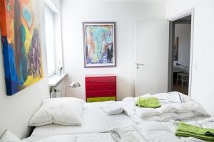 Een bed of bedden in een kamer bij Mølvangvej 2 Jelling Apartment