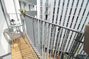 A balcony or terrace at Holiday at Alexanderplatz Apartments
