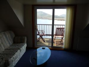 A seating area at Grimisdale Self Catering