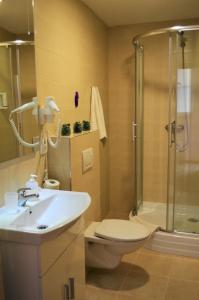 A bathroom at Apartments Soukenická