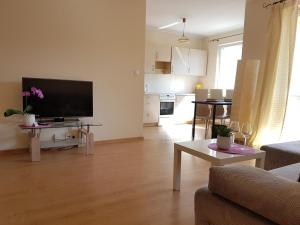 A television and/or entertainment center at Apartamenty Centrum