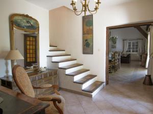 Coin salon dans l'établissement Villa Mas La Cigaliere
