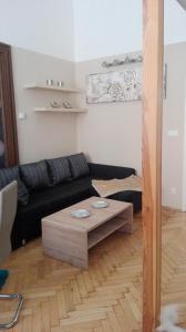 Ein Sitzbereich in der Unterkunft Jilská 449/14