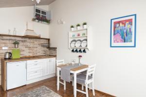 A kitchen or kitchenette at Apartamenty Chopina 46