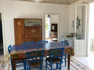 Zona pranzo nella villa