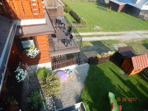 Pohľad z vtáčej perspektívy na ubytovanie Privát Lukáš