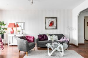 Oleskelutila majoituspaikassa Asuntohotelli Pohjantähti Apartment