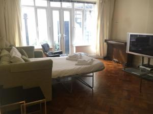 A television and/or entertainment center at Spacious Flat in Central London