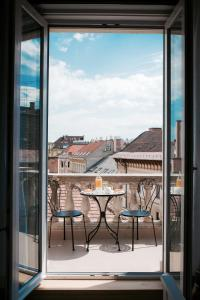 A balcony or terrace at Váci 75 City View