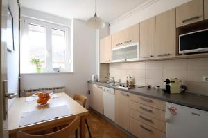 A kitchen or kitchenette at Colour View Apartment